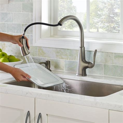 slate kitchen faucet slate kitchen faucet pfister pasadena single handle pull sprayer kitchen faucet with soap