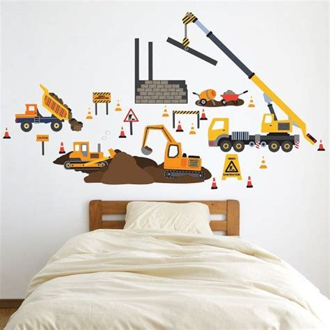 construction wall stickers construction wall decals 2017 grasscloth wallpaper