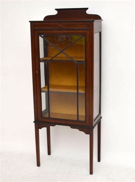 Antique Display Cabinet by Antique Edwardian Inlaid Mahogany Display Cabinet 299846