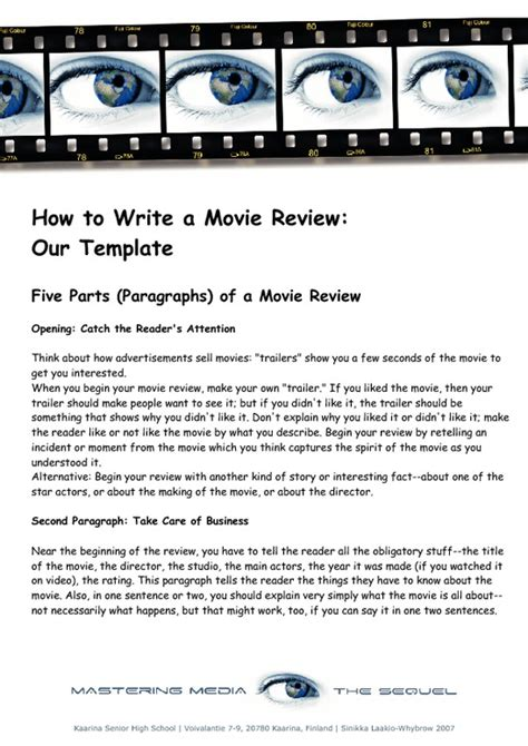 writing a movie review america s best lifechangers