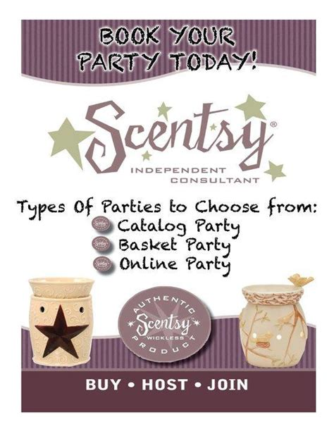 Scentsy Party Hosting From Scentsy Wickless Candles Independent Consultant In Crestview Fl 32536 Scentsy Flyer Templates