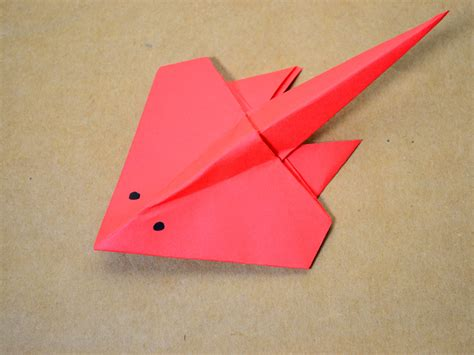 Sting Paper Crafts - how to make an origami stingray 13 steps with pictures