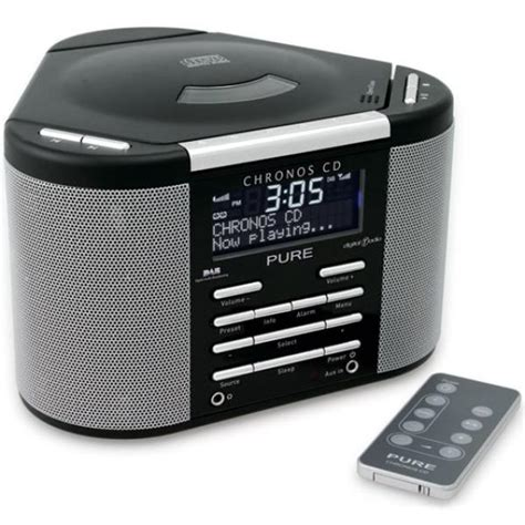 pure outlet chronos cd dab radio black manufacturer