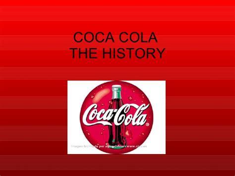 Presentation History Of Coca Cola Coca Cola Ppt