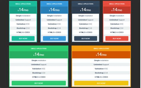 templates bootstrap tables pricing tables bootstrap responsive website templates on