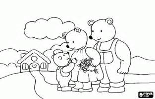 goldilocks bears coloring pages