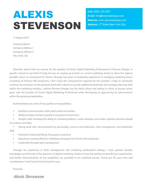 alexis cover letter creative cover letter