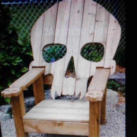 Skull Adirondack Chair Plans by Woody Work