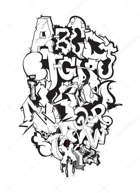 lettere alfabeto graffiti letras do alfabeto de grafite fonte projeto de grafitti