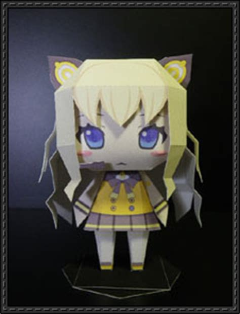 Kaito Papercraft - new paper craft vocaloid chibi seeu free papercraft