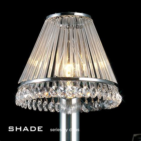 Glass L Shades by Diyas Il30100 Chrome Glass Shade