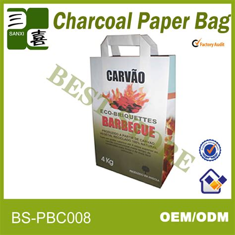 Packing Kayu 10 Kg kraft paper bag for coal packaging barbecue