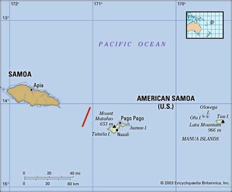 map of samoa and american samoa american samoa history geography territory pacific