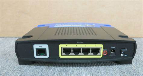 Modem Adsl Cisco cisco linksys ag241 v2 adsl2 modem router with 4 port switch no ac adapter