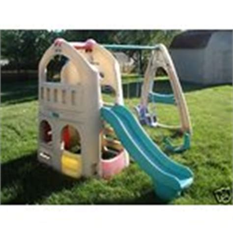 step 2 slide and swing set step 2 playset swing set w slide swings clubhouse 07