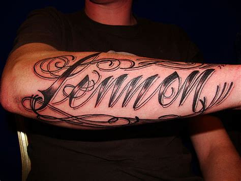 tattoos for men on arm writing arm tattoos for tattoosguys