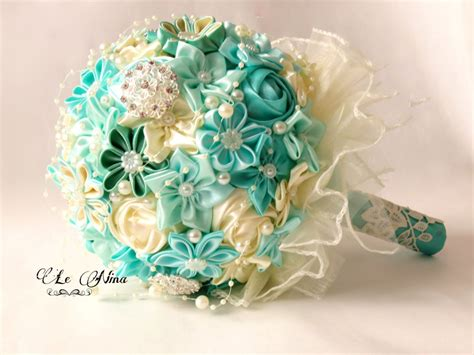 Bouquet For A Wedding by Fabric Wedding Bouquets From Etsy