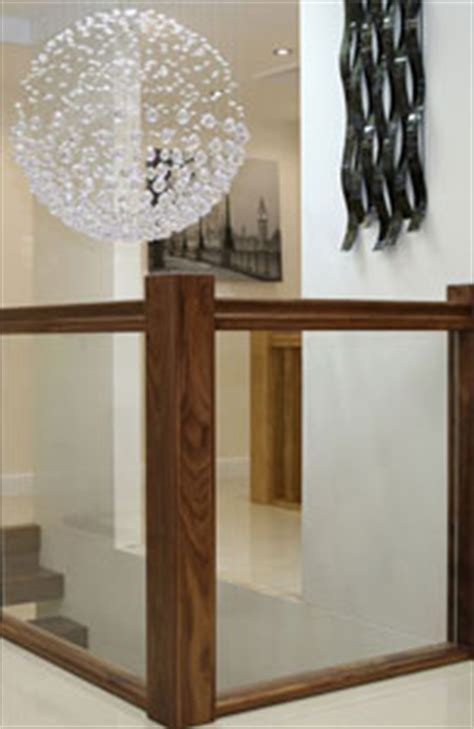 Modern Banister Ideas Glass Balustrading Oak Handrail With Glass Toughened Glass