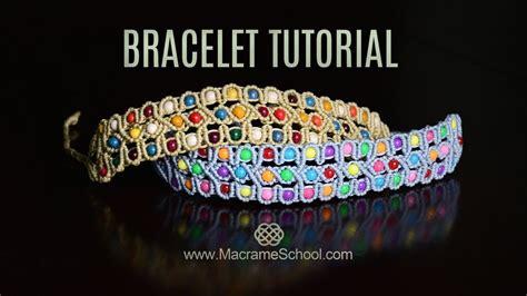 youtube tutorial bracelet celtic inspired beaded macram 233 bracelet tutorial youtube