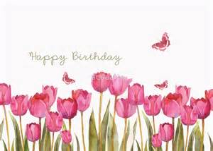 Butterflies Wall Stickers quot happy birthday tulips and butteflies quot by aquaarte