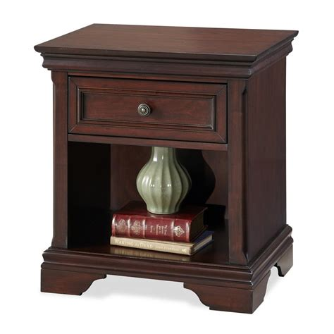 lowes lafayette shop home styles lafayette rich cherry mahogany nightstand