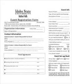 event booking form template word 10 printable registration form templates free sle