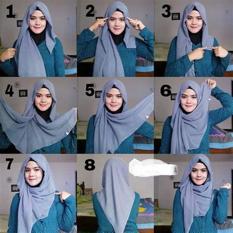 tutorial jilbab terkini tesett 252 rl 252 kadınlar i 231 in dolama kelebek stil şal bağlama