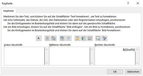 Excel Kopfzeile Layout   excel kopf und fu 223 zeile mit grafiken mikschulz