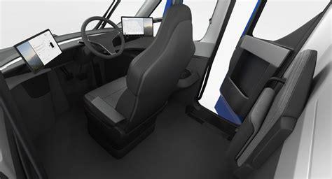 electric semi truck tesla simple interior  model cgstudio