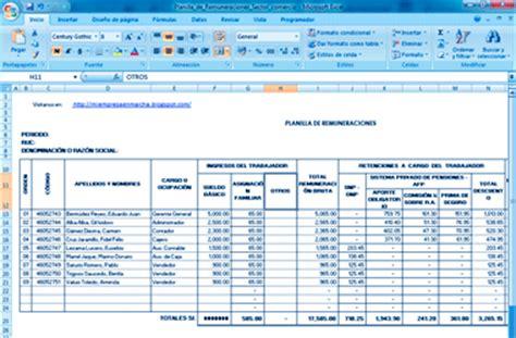 planilla excel liquidacin de sueldos de los trabajadores amethyusef22 amethyusef