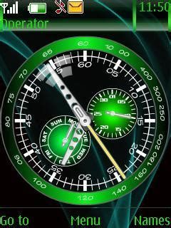 clock themes wap in download green time clock nokia theme mobile toones