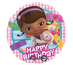 17 doc mcstuffins mylar happy birthday balloon