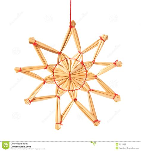 marion star christmas decoration straw decoration stock photo image 22112800