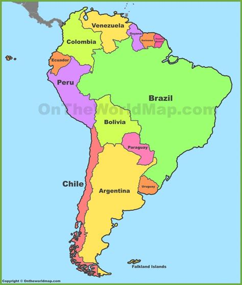 south america map map of south america maps and south america maps maps of south america ontheworldmap