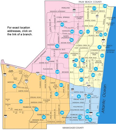 broward county florida map map of broward county library locations