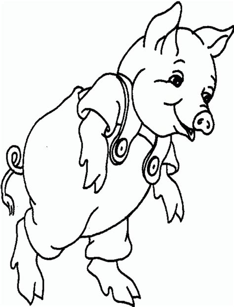 baby pigs coloring page pig template animal templates free premium templates