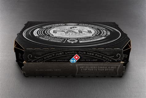 Dominos Handmade Pan - dominos handmade pan pizza the dieline packaging