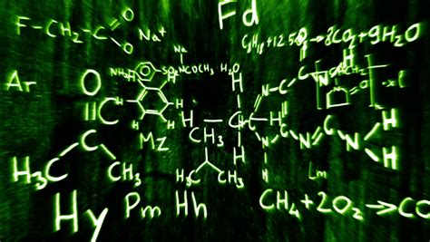 3d chemicals chemical formula stock footage