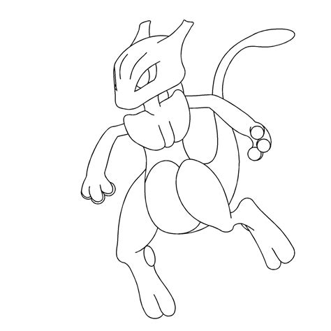 mewtwo x coloring pages