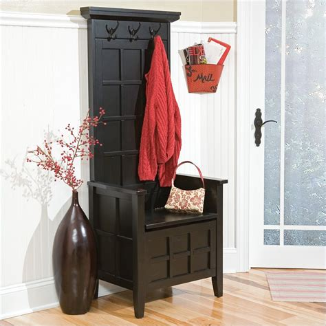 solid wood hall tree bench home styles mini hall tree storage solid wood bench ebay