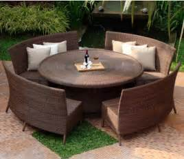 Curved Bench For Round Dining Table Curved Patio Furniture