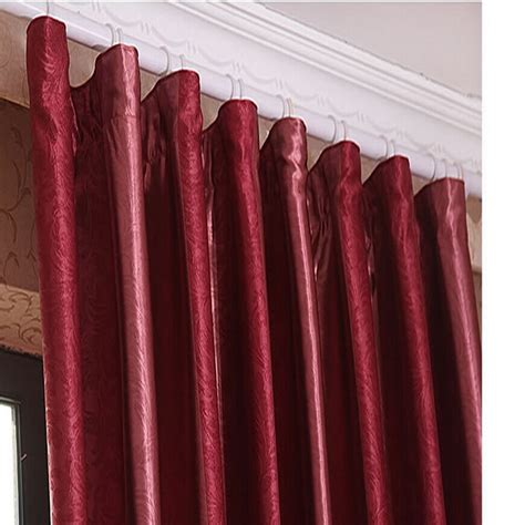 Burgundy Blackout Curtains Burgundy Color Solid Blackout Lining Curtain For Bedroom