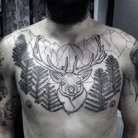 deer antler tattoos for men deer chest www pixshark images galleries