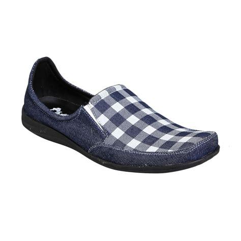 Sepatu Truf Slip On Denim jual dr kevin shoes 13210 slip on loafer denim sepatu