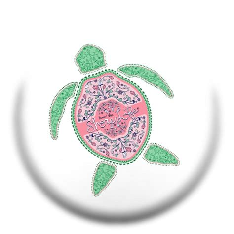 Lilly Pulitzer by Livin The Shore Life Floral Turtle Pop Socket