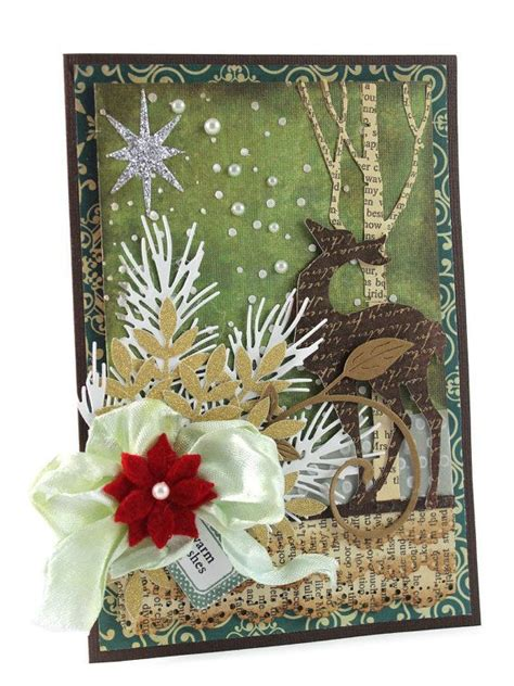 merry christmas card blessed christmas card deer christmas cards handmade christmas