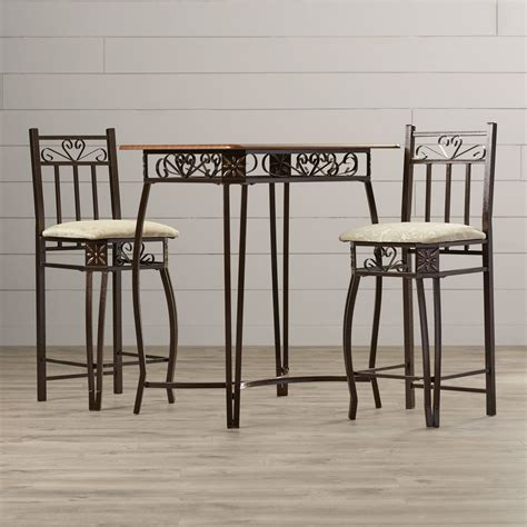 3 counter height pub table set august grove 3 counter height pub table set