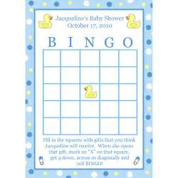 baby shower bingo cards template 24 baby shower bingo cards blue rubber ducky