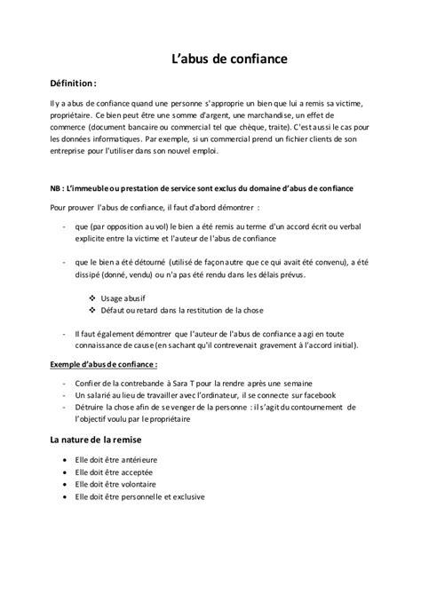 abus de confiance droit penal marocain programme encg s5