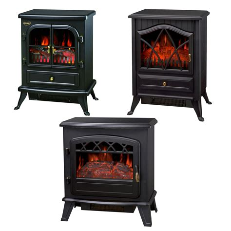 Electric Stove Fireplace Heater by Log Burning Effect 1850w Electric Heater